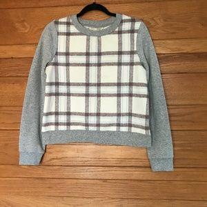 Anthro Saturday Sunday plaid sweatshirt